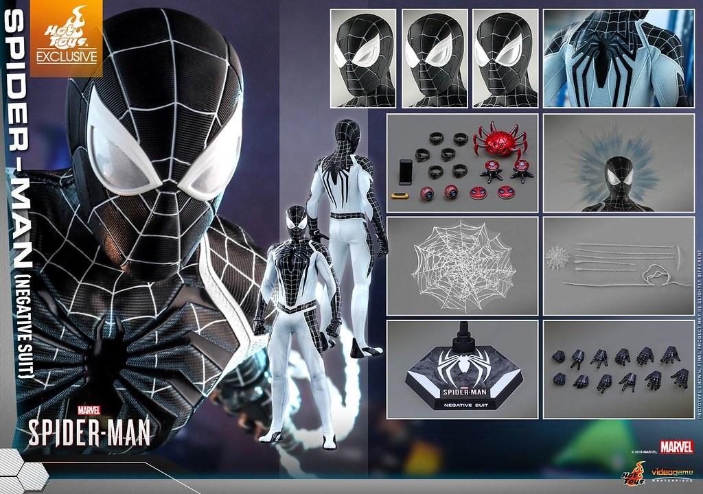 能向四周放出強力的負能量衝擊波! Hot Toys - VGM36 -《漫威蜘蛛人》蜘蛛人 (負空間戰衣) Spider-Man (Negative Suit) 1/6 比例人偶
