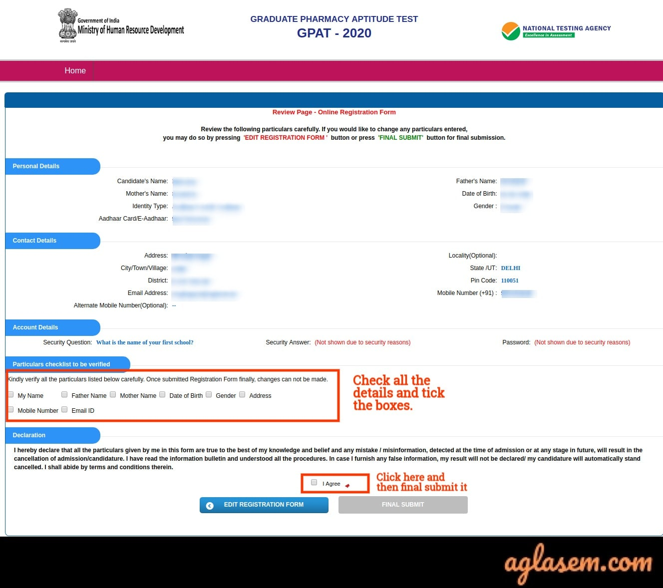 GPAT Registration 2021 GPAT Registration 2021 - Fill Application Form at gpat.nta.nic.in