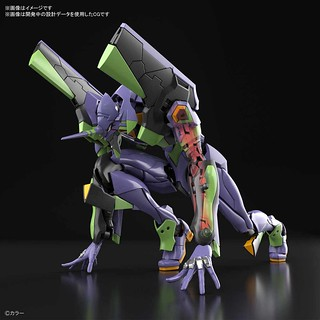 RG《福音戰士新劇場版》泛用人型決戰兵器 人造人 EVA 初號機(人造人間エヴァンゲリオン初号機)一般版 / 輸送台DX版