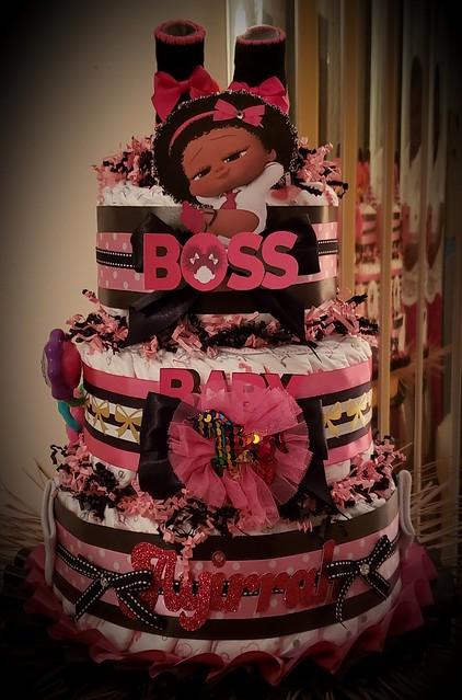 Boss Baby 3 Tier Diaper Cake