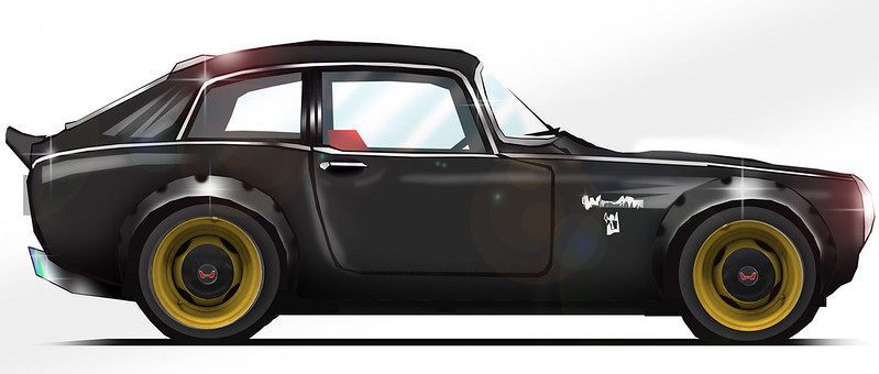 17 - 1968 Honda S800 Coupe Outlaw for 2019 SEMA Show-1200x720