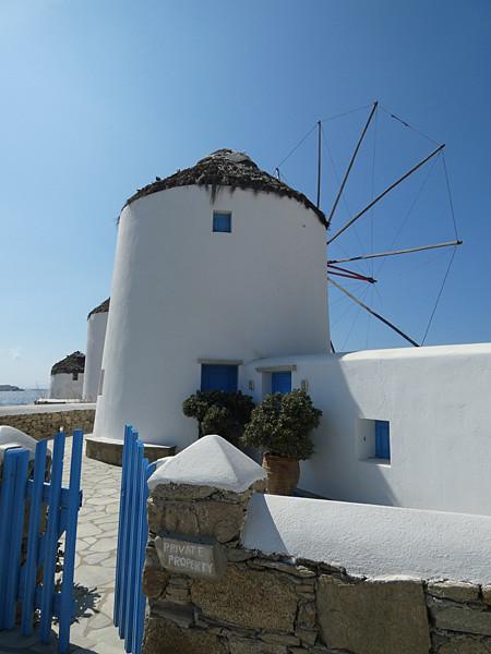 un moulin à mykonos