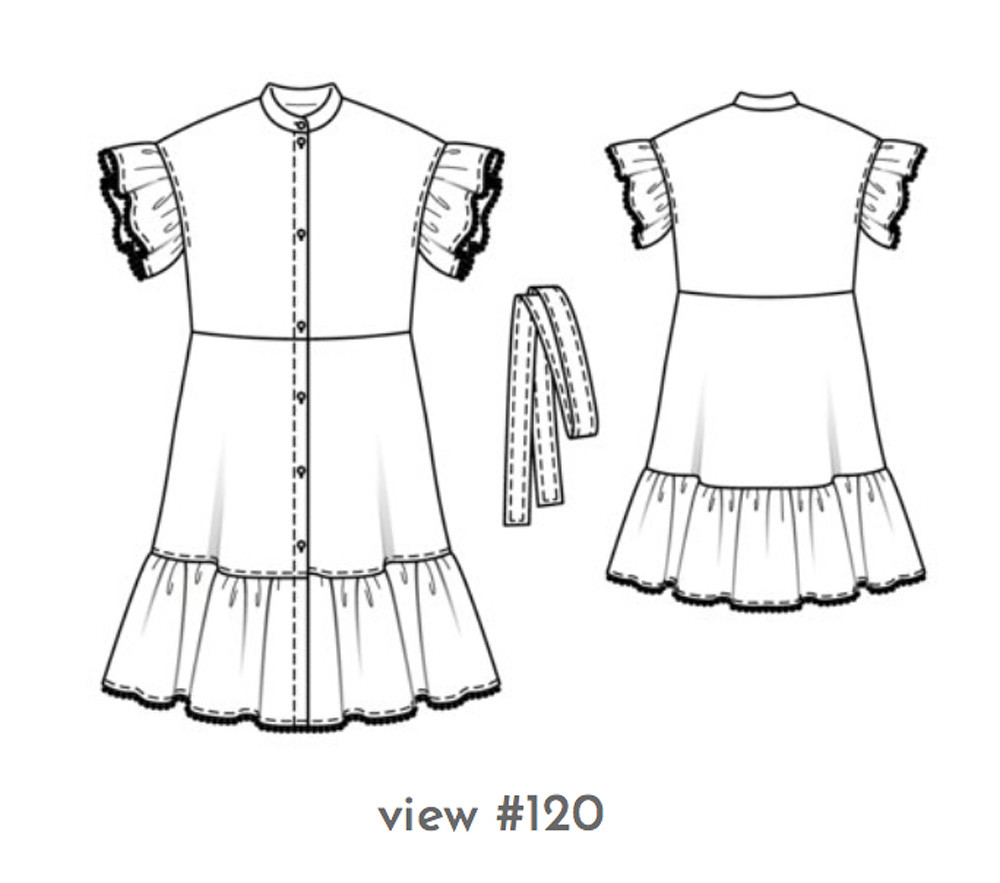 Burda 04-2019-119 dress drawing