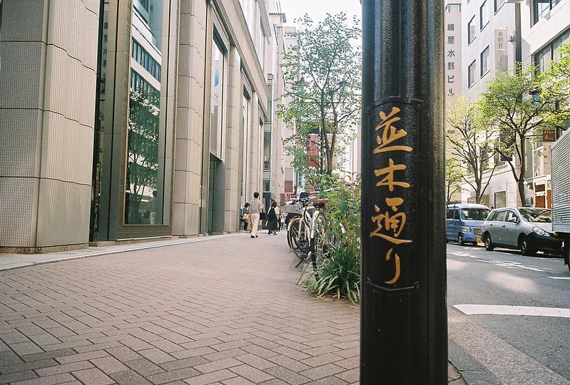 024RICOH GR1s+Kodak Ultramax400偽東京いい道しぶい道 並木通り