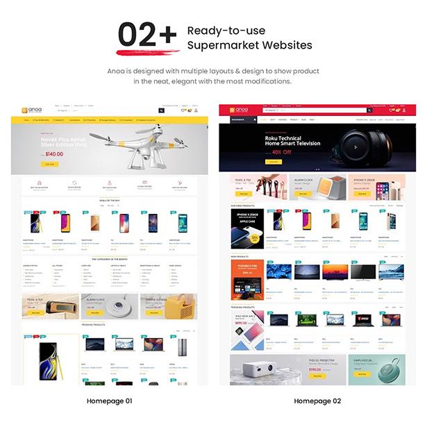 Leo Anoa Supermarket PrestaShop Template - 02+ Ready-to-use Supermarket Websites