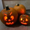 Pumpkins out for the handful of trick-or-treaters we get every year. Participation in our neighborhood continues to be low and most families know the choice locations in the city to head to for big lawn decorations, haunted houses and lots & lots houses g
