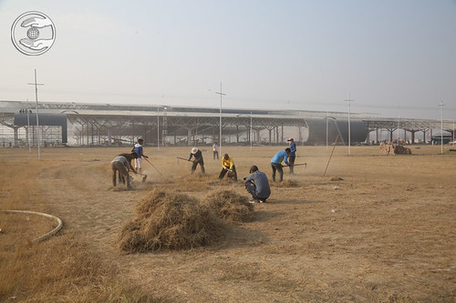Levelling the Samagam Ground