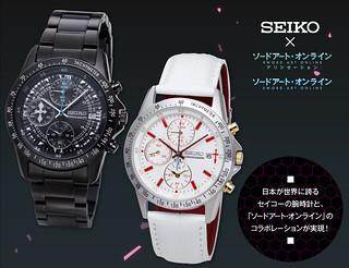 浪漫爆錶!SEIKO×《刀劍神域》桐人、亞絲娜聯名錶(SEIKO×ソードアート・オンライン モデル & アスナ モデル)