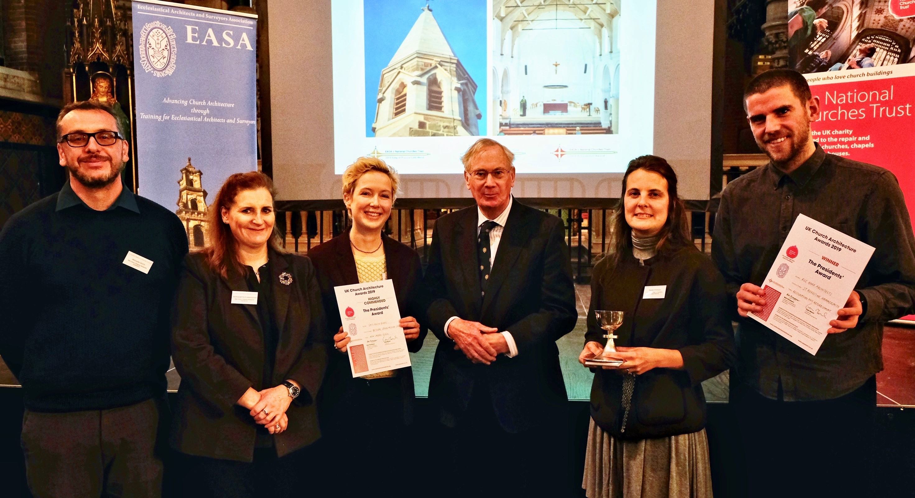 2019 Presidents' Award Winners (right) and Highly Commended (left) with HRH The Duke of Gloucester