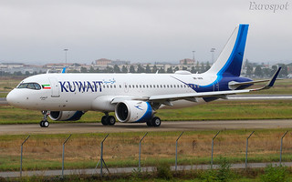 9K-AKN Airbus A320 Neo Kuwait Airways, delivery flight