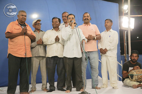 Saint seeking blessings through Group Song
