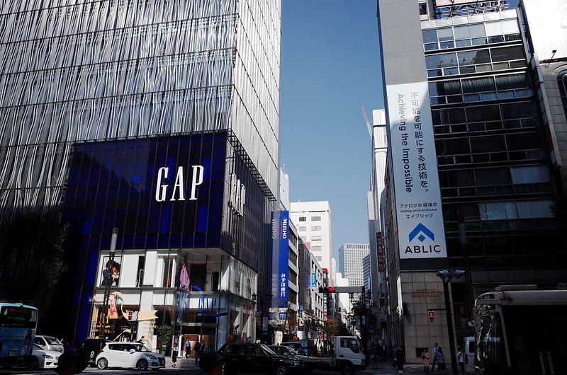 30偽東京いい道しぶい道 並木通りGAPとテイジンメンズショップ