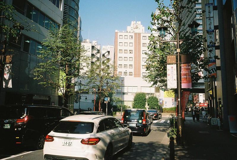 034RICOH GR1s+Kodak Ultramax400偽東京いい道しぶい道 並木通り終点