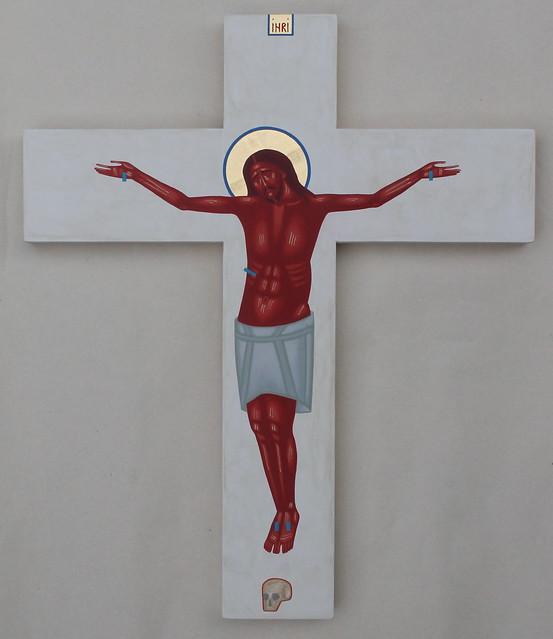 2019 Red Crucifix 38x32cm.