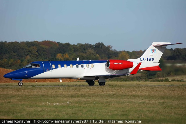 LX-TWO   Learjet 45XR   European Air Ambulance
