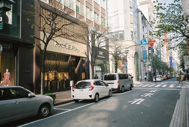 016RICOH GR1s+Kodak Ultramax400偽東京いい道しぶい道 並木通り銀座風月堂ビル