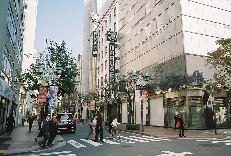 008RICOH GR1s+Kodak Ultramax400偽東京いい道しぶい道 並木通りMARUGEN53