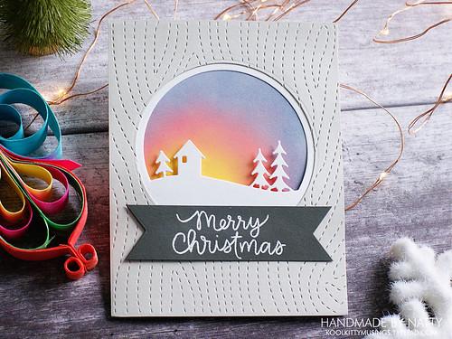 Woodgrain winter sunset Merry Christmas - 2019-10-12