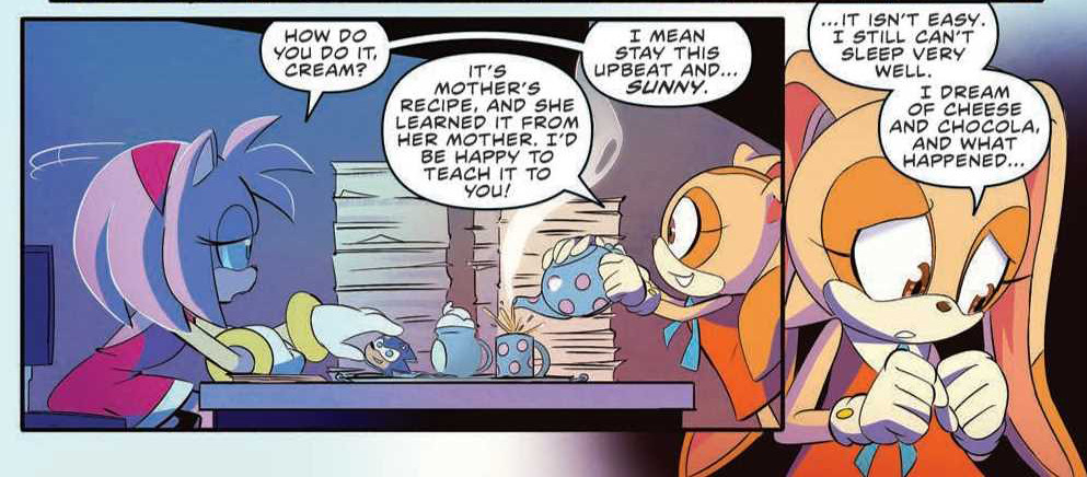 IDW Comics Sonic the Hedgeh issue 22 review preview panel page amy rose cream the rabbit