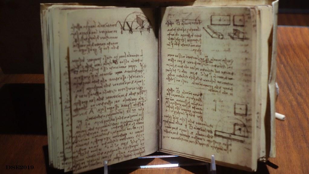 Codex - Forster III, Serie de manuscritos que incluyen estudios de geometria, pesos y maquinas hidraulicas.
