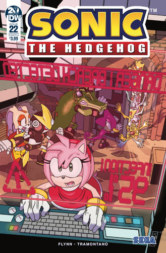 sonic the hedgehog IDW comic issue 22 cover a ryan jampole