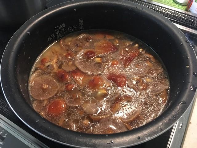クリタケの炊き込みご飯