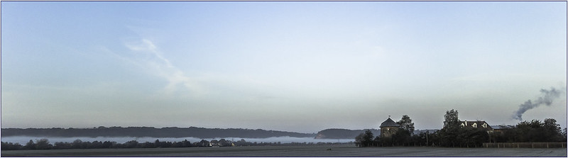 der Berg Bosel im Nebel...