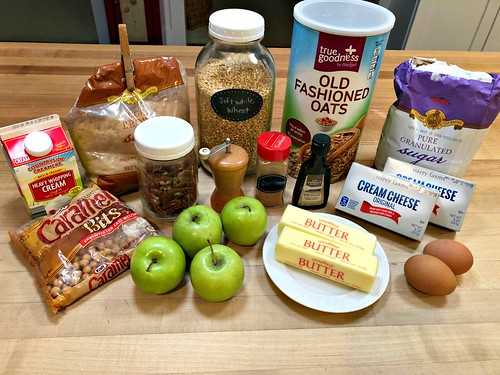 Ingredients for Apple Pie Cheesecake Bars
