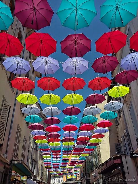 Les parapluies d'Aurillac (15 Cantal)