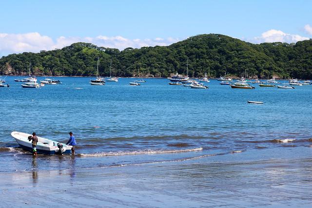 Costa rica boat on beach