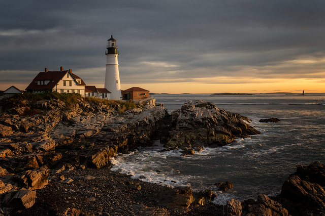 Dawn's early light at the Portland Head Lighthouse