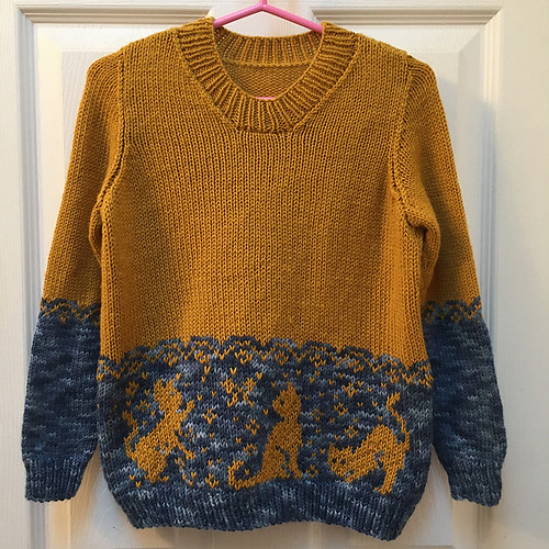 Sandi's Cats in the Garden test knit is so cute!! Knit in Hikoo Simplicity