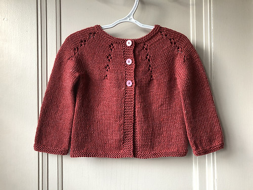 Lise has knit another Fairy Dust cardigan for her beloved granddaughter!!