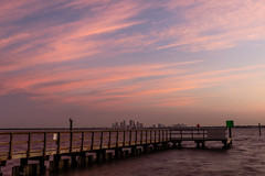 Wavy Pink Clouds over Tampa