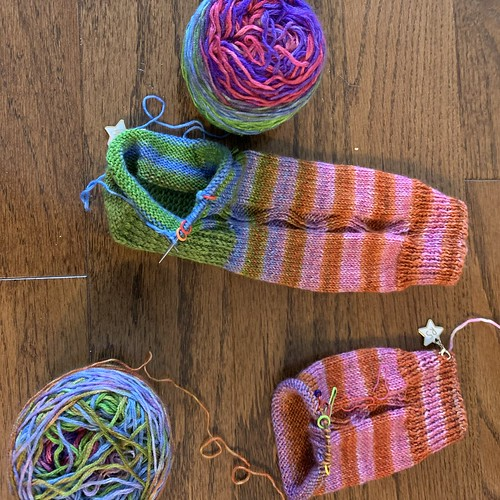 My Zigzagular Socks are still on my needles
