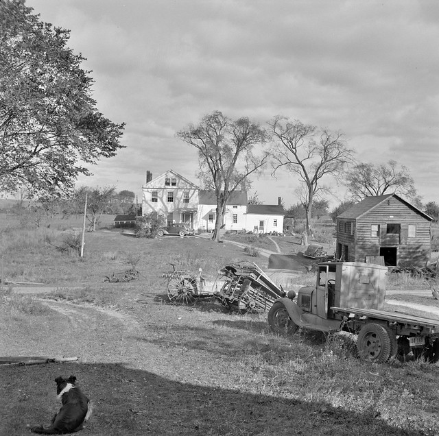 Old Home Time: The Mambert farm, located in the Hudson River Valley, New York. October 1941.