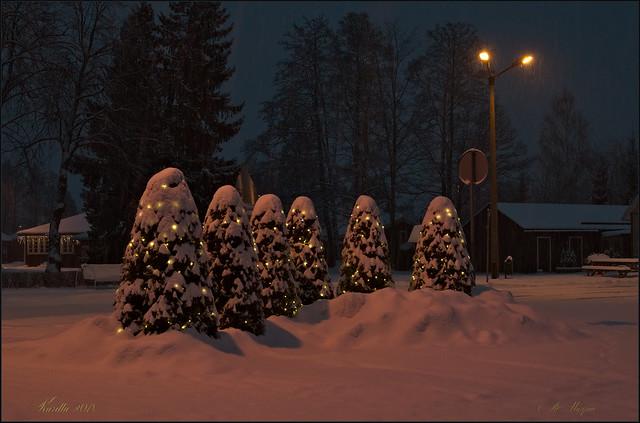 Winterabend in Kärdla