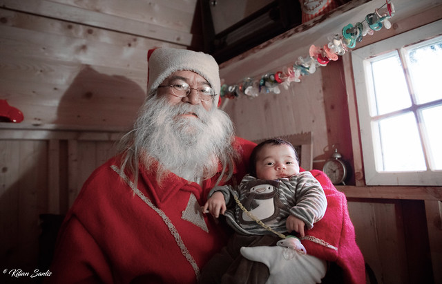 Ewen et le Père Noël - Ferme aux rennes du Schantzwasen