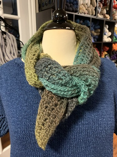 Light, airy scarf knit by Celine!