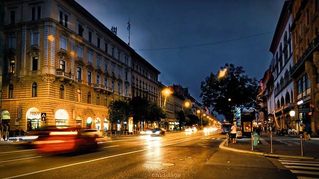 Budapest bei Nacht - Rákóczi út