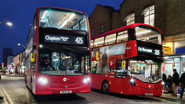 Tower Transit DN33793 and WH31110 - Routes 425 and 25