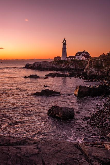 Morning Twilight at Portland Head Light