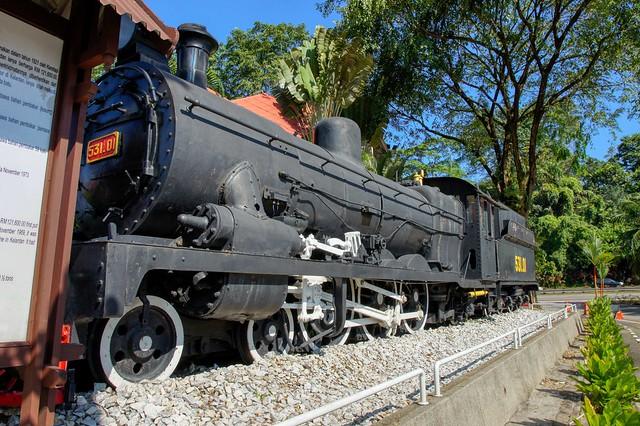 Steam locomotive at Muzium Negara in Kuala Lumpur, Malaysia
