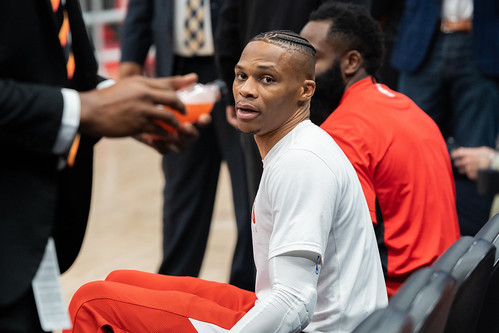 Russell Westbrook on bench | by All-Pro Reels