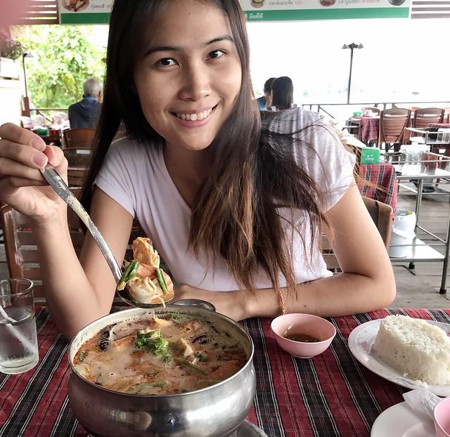 Tom Yum Shrimp (Spicy sour and sweet shrimp soup)