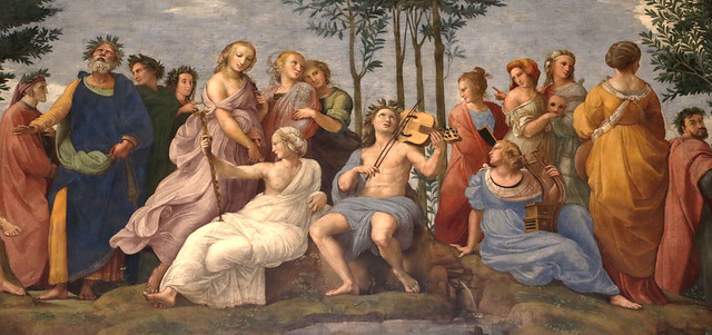 Raffaello Sanzio (1483-1520) - Parnaso (1510-11) - Stanza della Segnatura - Stanze di Raffaello - Musei Vaticani