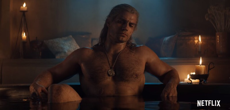 Netflix The Withcer - Geralt in a Tub