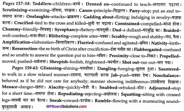 MP Board Class 12th English A Voyage Solutions Chapter 20 Swami and Friends (R.K. Narayan) 1