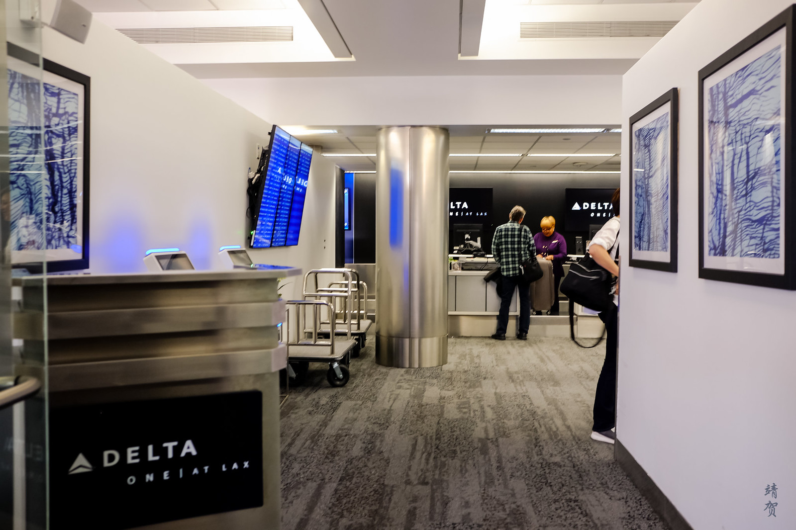 Entrance to Delta ONE counter