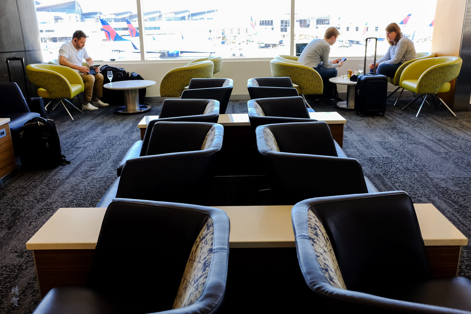 Seating inside the lounge